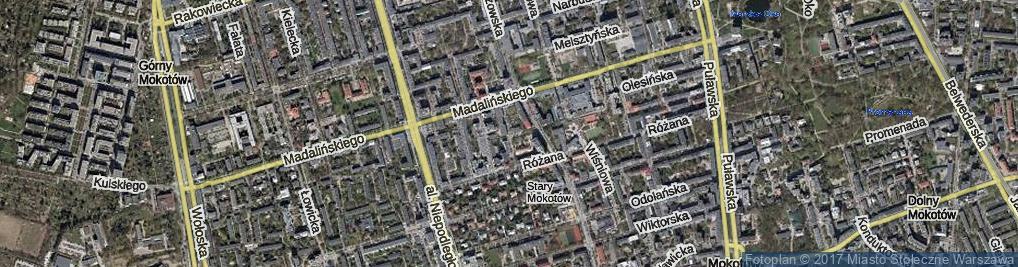 Zdjęcie satelitarne Falęcka ul.