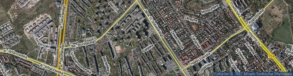 Zdjęcie satelitarne Iberyjska ul.