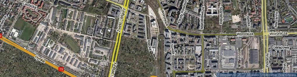 Zdjęcie satelitarne Iłżecka ul.