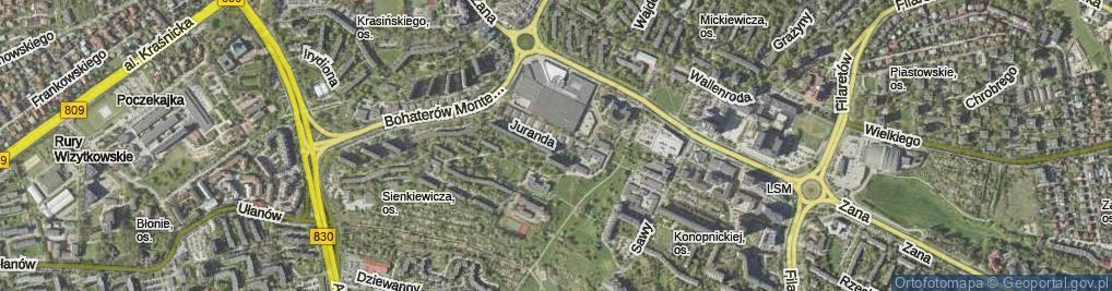 Zdjęcie satelitarne Juranda ul.