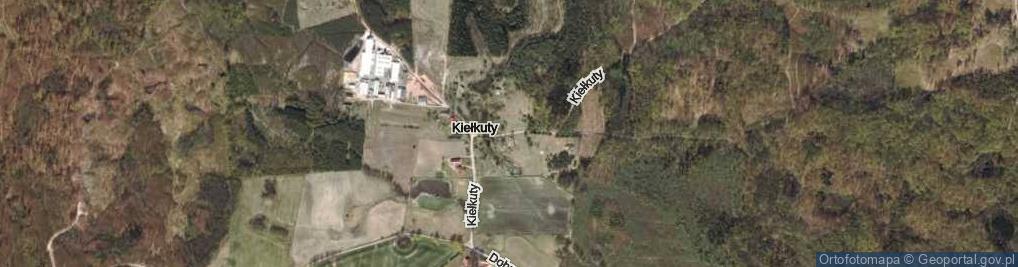 Zdjęcie satelitarne Kiełkuty ul.
