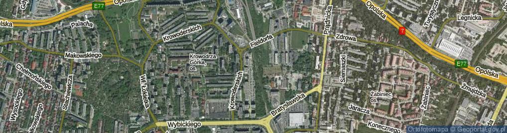 Zdjęcie satelitarne Kluczborska ul.