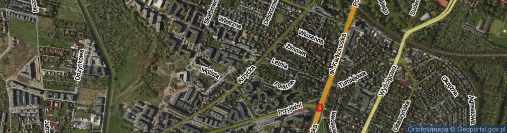 Zdjęcie satelitarne Krzycka ul.