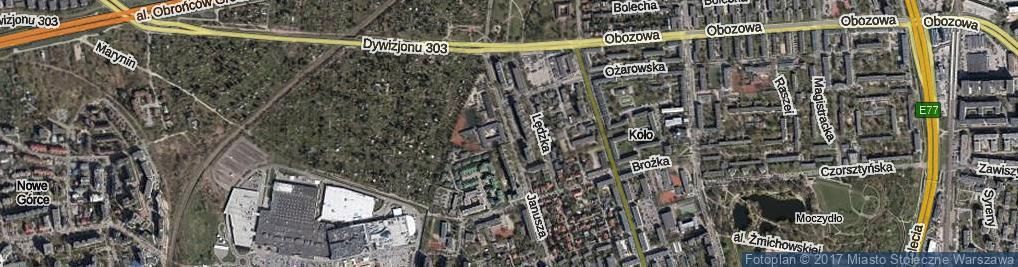 Zdjęcie satelitarne Księcia Janusza ul.