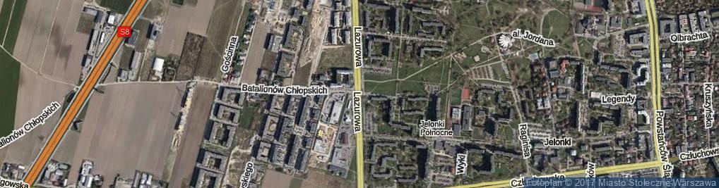 Zdjęcie satelitarne Lazurowa ul.