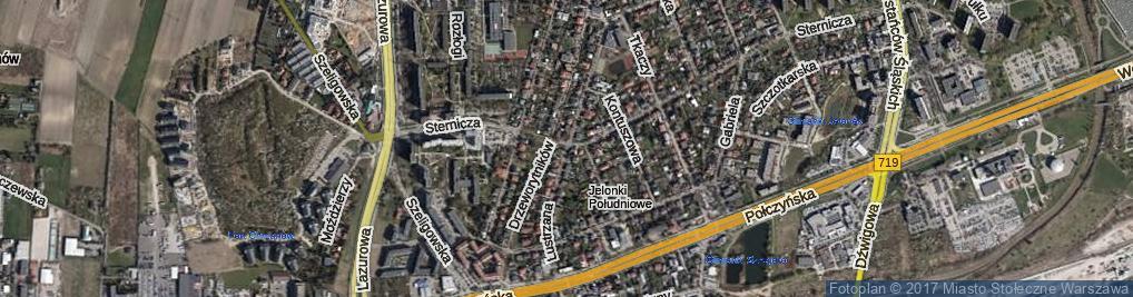 Zdjęcie satelitarne Lustrzana ul.