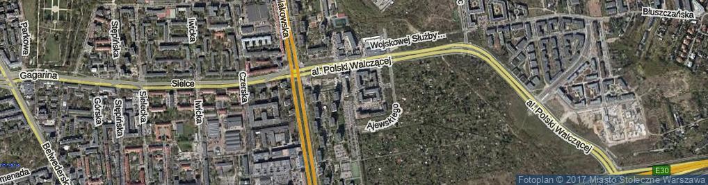Zdjęcie satelitarne Melomanów ul.