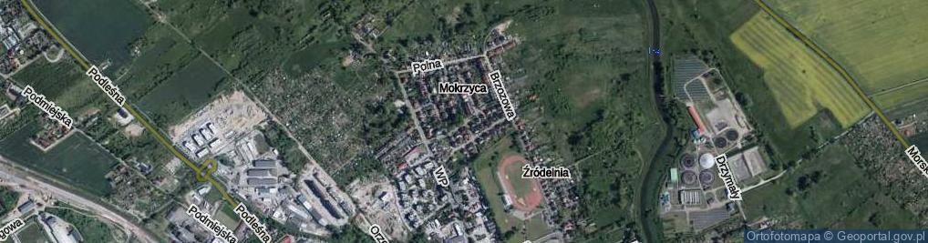 Zdjęcie satelitarne Mokrzyca ul.