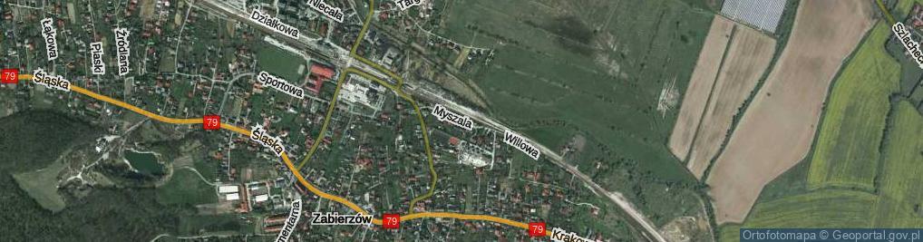 Zdjęcie satelitarne Myszala ul.