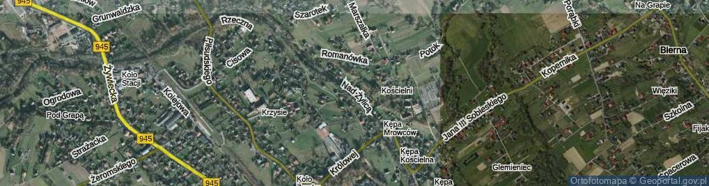 Zdjęcie satelitarne Nad Żylicą ul.