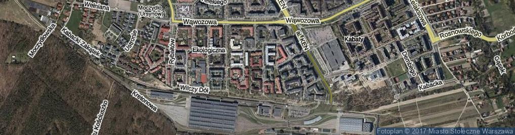 Zdjęcie satelitarne Na Przyzbie ul.