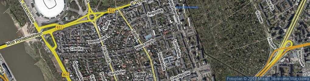 Zdjęcie satelitarne Niekłańska ul.