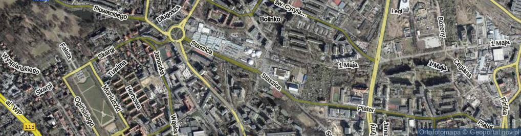 Zdjęcie satelitarne Ofiar Oświęcimia ul.