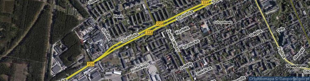 Zdjęcie satelitarne Orłowskiego Marka ul.