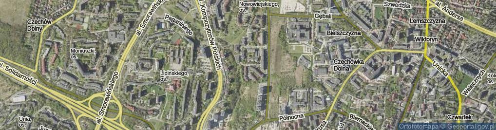 Zdjęcie satelitarne Organowa ul.