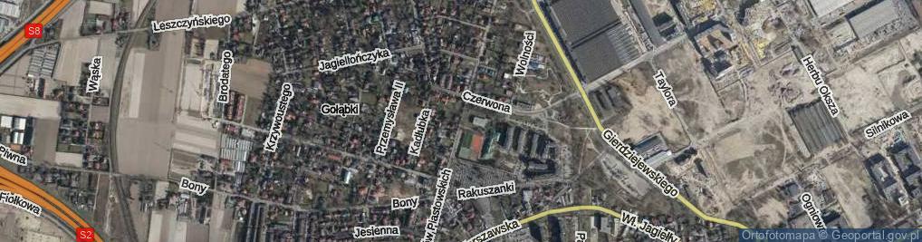Zdjęcie satelitarne Orłów Piastowskich ul.