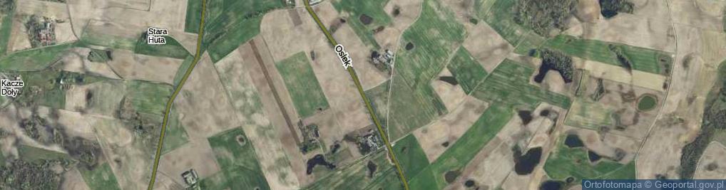 Zdjęcie satelitarne Osiek ul.