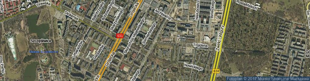 Zdjęcie satelitarne Pawińskiego Adolfa ul.