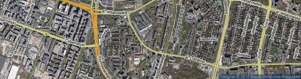 Zdjęcie satelitarne Pieńkowskiego Stefana ul.