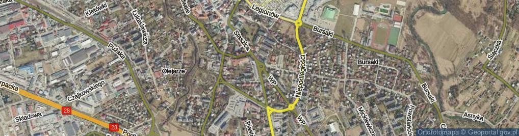 Zdjęcie satelitarne Plac Monte Cassino pl.
