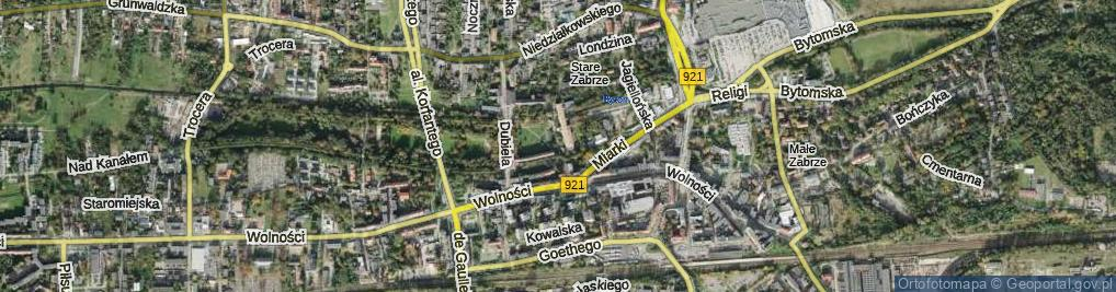 Zdjęcie satelitarne Plac Traugutta Romualda, gen. pl.