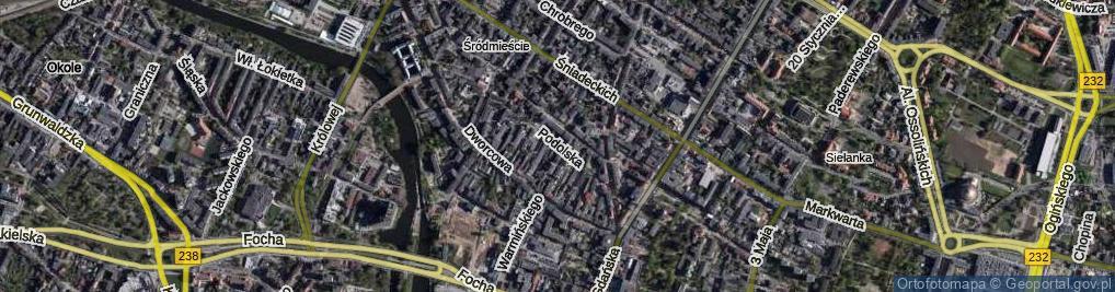Zdjęcie satelitarne Podolska ul.