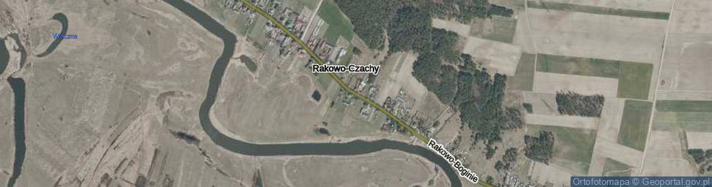 Zdjęcie satelitarne Rakowo-Czachy ul.