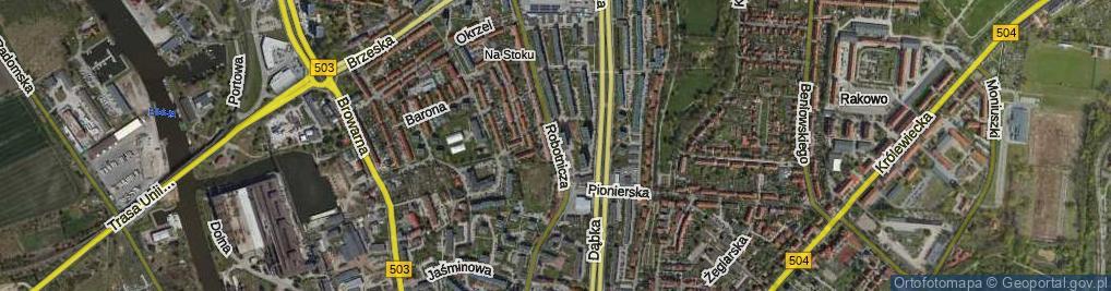 Zdjęcie satelitarne Robotnicza ul.