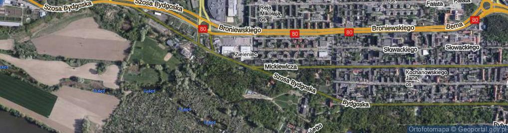 Zdjęcie satelitarne Rondo Polaków Poszkodowanych Przez Rzeszę Niemiecką rondo.