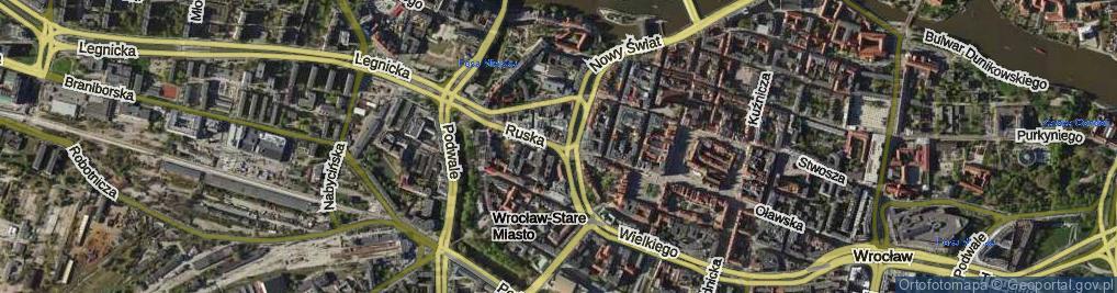 Zdjęcie satelitarne Ruska ul.