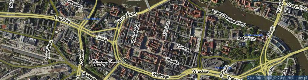 Zdjęcie satelitarne Rynek Ratusz ul.