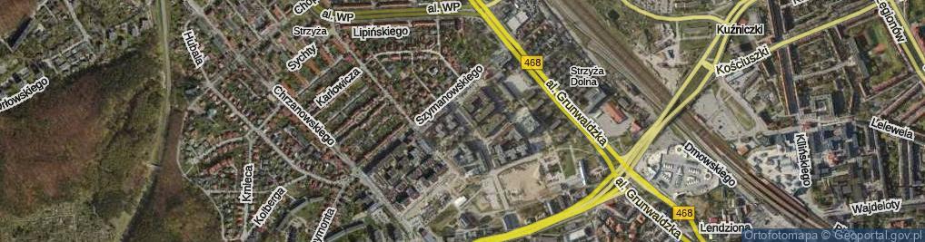Zdjęcie satelitarne Słonimskiego Antoniego ul.