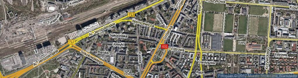 Zdjęcie satelitarne Słupecka ul.