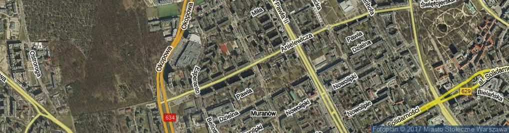 Zdjęcie satelitarne Smocza ul.