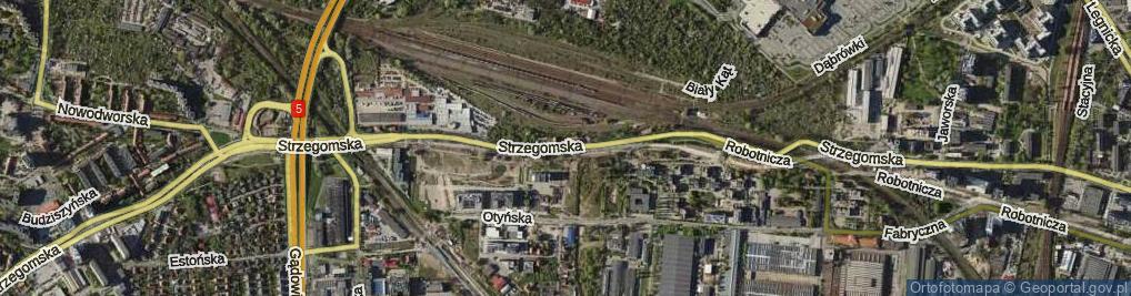 Zdjęcie satelitarne Strzegomska ul.