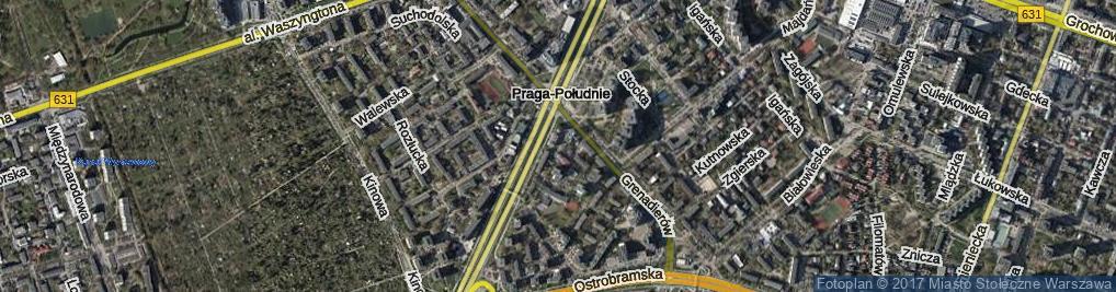 Zdjęcie satelitarne Świętosławska ul.