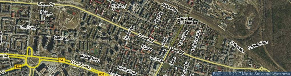 Zdjęcie satelitarne Szaserów ul.