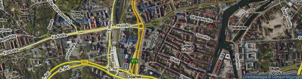Zdjęcie satelitarne Targ Węglowy ul.