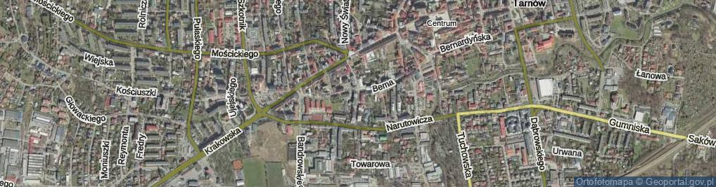 Zdjęcie satelitarne Urszulańska ul.