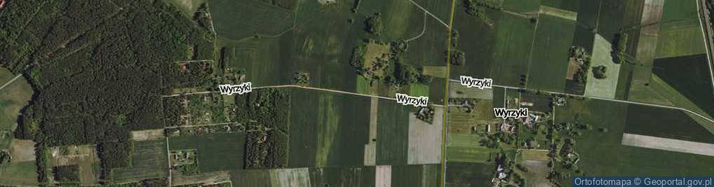 Zdjęcie satelitarne Wyrzyki ul.
