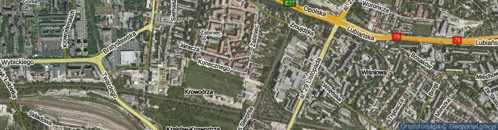 Zdjęcie satelitarne Żabiniec ul.