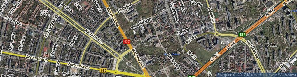 Zdjęcie satelitarne Zabłocińska ul.