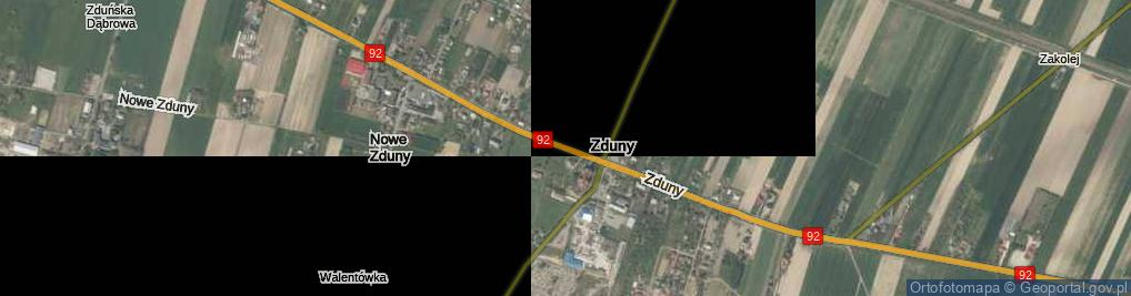 Zdjęcie satelitarne Zduny ul.