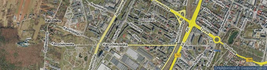 Zdjęcie satelitarne Zimna ul.