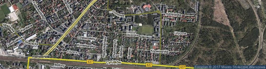 Zdjęcie satelitarne Ziemskiego Karola, gen. ul.
